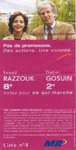 Députée FDF (MR) élue en 2004, Souad Razzouk est aujourd'hui 28 candidate effective pour le PS